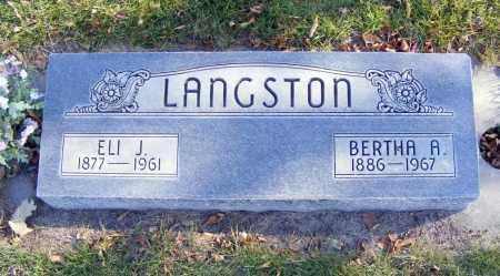 LANGSTON, ELI J. - Box Butte County, Nebraska   ELI J. LANGSTON - Nebraska Gravestone Photos