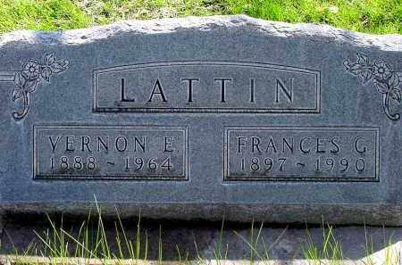 LATTIN, FRANCES G. - Box Butte County, Nebraska | FRANCES G. LATTIN - Nebraska Gravestone Photos