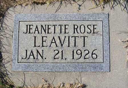 LEAVITT, JEANETTE ROSE - Box Butte County, Nebraska | JEANETTE ROSE LEAVITT - Nebraska Gravestone Photos