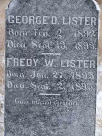 LISTER, GEORGE D. - Box Butte County, Nebraska   GEORGE D. LISTER - Nebraska Gravestone Photos