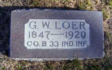 LOER, G.W. - Box Butte County, Nebraska | G.W. LOER - Nebraska Gravestone Photos