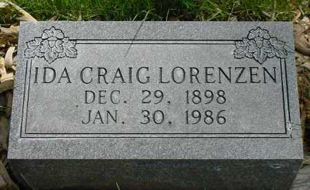 CRAIG LORENZEN, IDA - Box Butte County, Nebraska | IDA CRAIG LORENZEN - Nebraska Gravestone Photos
