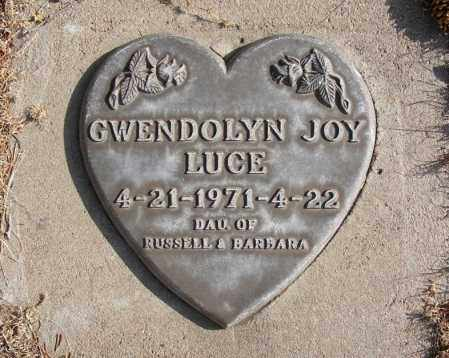 LUCE, GWENDOLYN JOY - Box Butte County, Nebraska | GWENDOLYN JOY LUCE - Nebraska Gravestone Photos