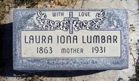 LUMBAR, LAURA IONA - Box Butte County, Nebraska   LAURA IONA LUMBAR - Nebraska Gravestone Photos