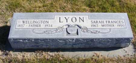 LYON, WELLINGTON - Box Butte County, Nebraska | WELLINGTON LYON - Nebraska Gravestone Photos