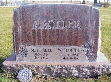 MACKLER, BESSIE ALICE - Box Butte County, Nebraska | BESSIE ALICE MACKLER - Nebraska Gravestone Photos