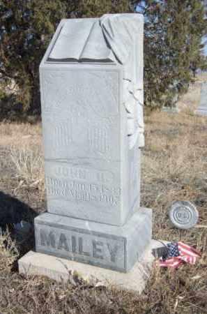 MAILEY, JOHN H. - Box Butte County, Nebraska | JOHN H. MAILEY - Nebraska Gravestone Photos