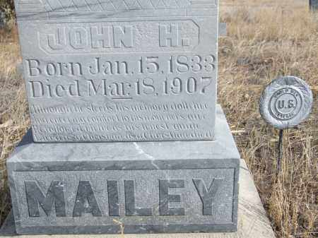 MAILEY, JOHN H. (CLOSE-UP) - Box Butte County, Nebraska   JOHN H. (CLOSE-UP) MAILEY - Nebraska Gravestone Photos