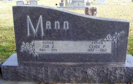 MANN, ZUA Z. - Box Butte County, Nebraska | ZUA Z. MANN - Nebraska Gravestone Photos