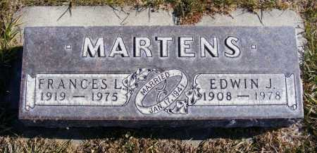 MARTENS, FRANCES L. - Box Butte County, Nebraska   FRANCES L. MARTENS - Nebraska Gravestone Photos