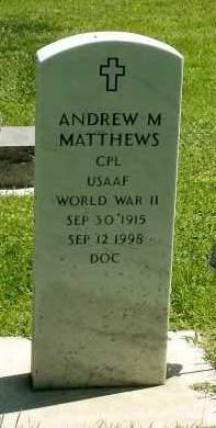 MATHEWS, ANDREW M. - Box Butte County, Nebraska | ANDREW M. MATHEWS - Nebraska Gravestone Photos