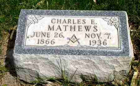 MATHEWS, CHARLES E. - Box Butte County, Nebraska | CHARLES E. MATHEWS - Nebraska Gravestone Photos