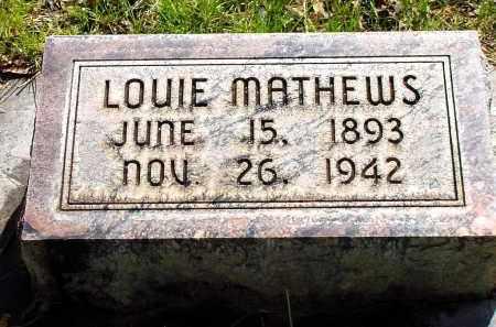 MATHEWS, LOUIE - Box Butte County, Nebraska   LOUIE MATHEWS - Nebraska Gravestone Photos