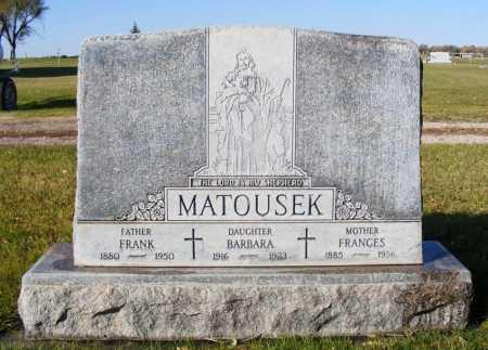 MATOUSEK, BARBARA - Box Butte County, Nebraska | BARBARA MATOUSEK - Nebraska Gravestone Photos