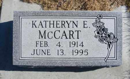 MCCART, KATHERYN E. - Box Butte County, Nebraska | KATHERYN E. MCCART - Nebraska Gravestone Photos