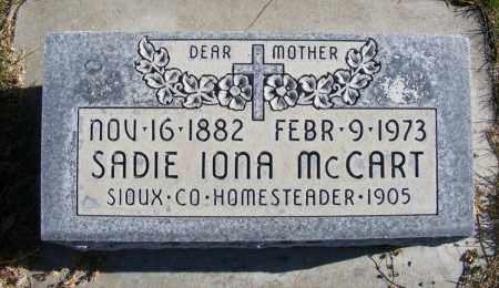 MCCART, SADIE IONA - Box Butte County, Nebraska | SADIE IONA MCCART - Nebraska Gravestone Photos