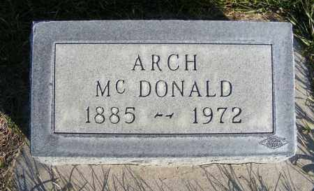 MCDONALD, ARCH - Box Butte County, Nebraska | ARCH MCDONALD - Nebraska Gravestone Photos