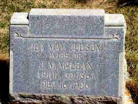 JUDSON MCLEAN, IDA MAY - Box Butte County, Nebraska | IDA MAY JUDSON MCLEAN - Nebraska Gravestone Photos