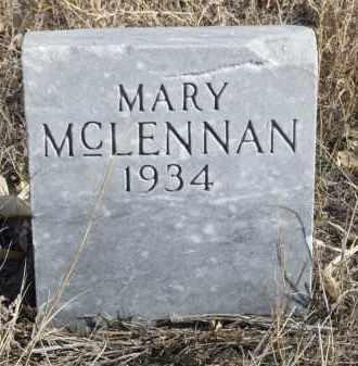 MCLENNAN, MARY - Box Butte County, Nebraska | MARY MCLENNAN - Nebraska Gravestone Photos