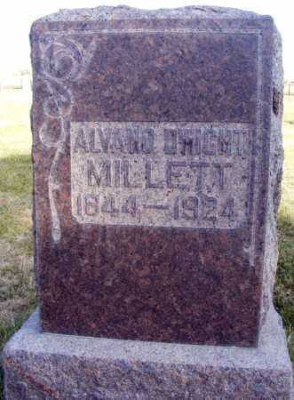 MILLETT, ALVANO DWIGHT - Box Butte County, Nebraska | ALVANO DWIGHT MILLETT - Nebraska Gravestone Photos