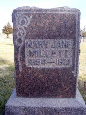 MILLETT, MARY JANE - Box Butte County, Nebraska | MARY JANE MILLETT - Nebraska Gravestone Photos