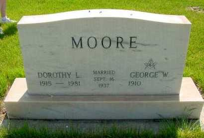 FITZGERALD MOORE, DOROTHY L. - Box Butte County, Nebraska | DOROTHY L. FITZGERALD MOORE - Nebraska Gravestone Photos