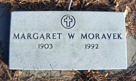 MORAVEK, MARGARET W. - Box Butte County, Nebraska | MARGARET W. MORAVEK - Nebraska Gravestone Photos