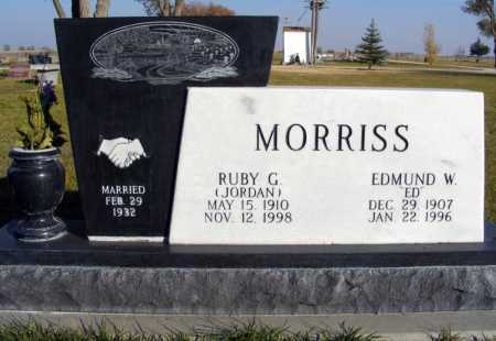 JORDAN MORRISS, RUBY G. - Box Butte County, Nebraska | RUBY G. JORDAN MORRISS - Nebraska Gravestone Photos