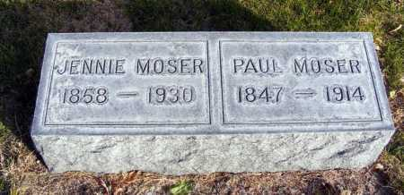 MOSER, JENNIE - Box Butte County, Nebraska | JENNIE MOSER - Nebraska Gravestone Photos