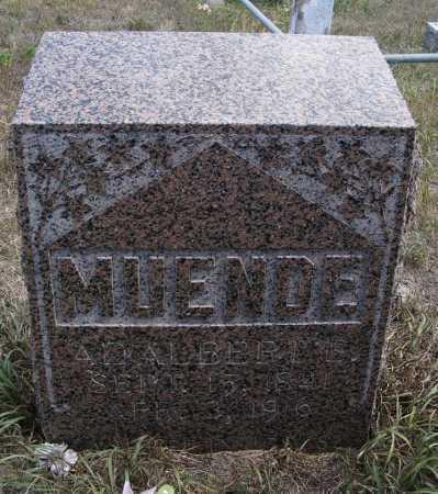 MUENDE, ADALBERT E. - Box Butte County, Nebraska   ADALBERT E. MUENDE - Nebraska Gravestone Photos