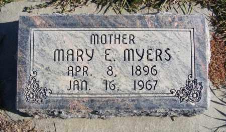 MYERS, MARY E. - Box Butte County, Nebraska   MARY E. MYERS - Nebraska Gravestone Photos