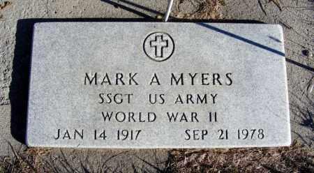 MYERS, MARK A. - Box Butte County, Nebraska | MARK A. MYERS - Nebraska Gravestone Photos