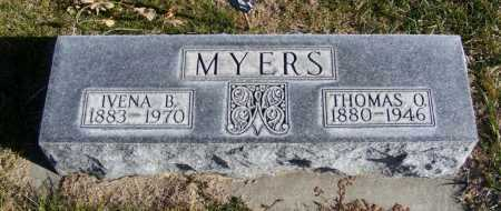 MYERS, IVENA B. - Box Butte County, Nebraska | IVENA B. MYERS - Nebraska Gravestone Photos