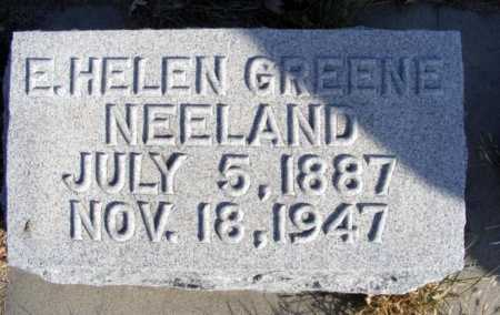 GREENE NEELAND, E. HELEN - Box Butte County, Nebraska   E. HELEN GREENE NEELAND - Nebraska Gravestone Photos