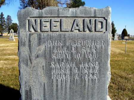 NEELAND, JOHN FLETCHER - Box Butte County, Nebraska | JOHN FLETCHER NEELAND - Nebraska Gravestone Photos