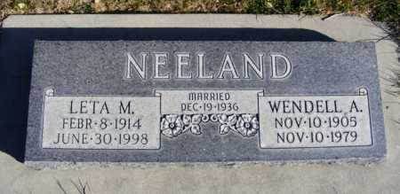 NEELAND, LETA M. - Box Butte County, Nebraska | LETA M. NEELAND - Nebraska Gravestone Photos
