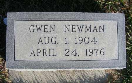 NEWMAN, GWEN - Box Butte County, Nebraska | GWEN NEWMAN - Nebraska Gravestone Photos