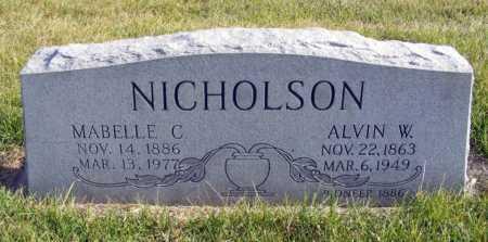 NICHOLSON, MABELLE C. - Box Butte County, Nebraska | MABELLE C. NICHOLSON - Nebraska Gravestone Photos