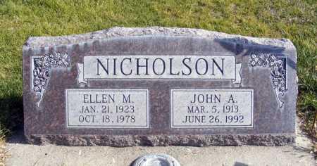 NICHOLSON, ELLEN M. - Box Butte County, Nebraska | ELLEN M. NICHOLSON - Nebraska Gravestone Photos