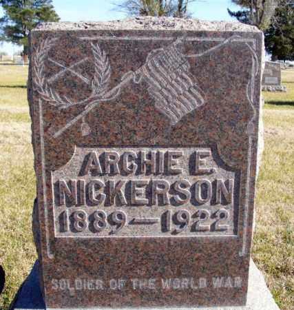 NICKERSON, ARCHIE E. - Box Butte County, Nebraska | ARCHIE E. NICKERSON - Nebraska Gravestone Photos