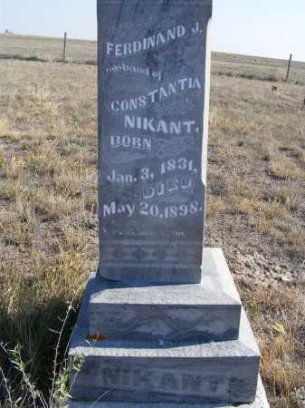 NIKANT, FERDINAND J. - Box Butte County, Nebraska   FERDINAND J. NIKANT - Nebraska Gravestone Photos
