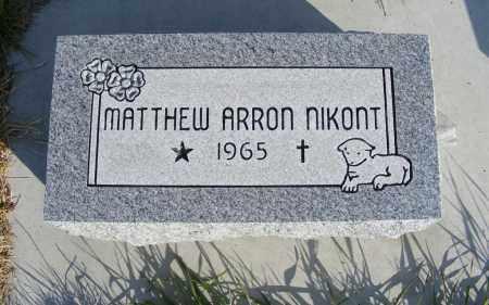 NIKONT, MATTHEW ARRON - Box Butte County, Nebraska | MATTHEW ARRON NIKONT - Nebraska Gravestone Photos