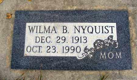 NYQUIST, WILMA B. - Box Butte County, Nebraska | WILMA B. NYQUIST - Nebraska Gravestone Photos