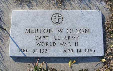 OLSON, MERTON W. - Box Butte County, Nebraska   MERTON W. OLSON - Nebraska Gravestone Photos