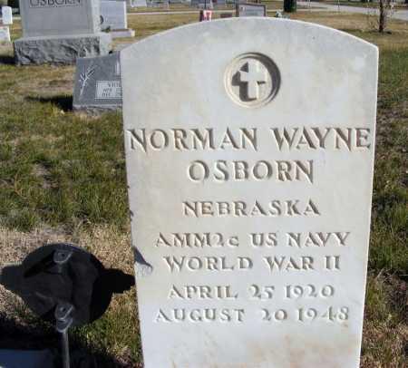 OSBORN, NORMAN WAYNE - Box Butte County, Nebraska | NORMAN WAYNE OSBORN - Nebraska Gravestone Photos