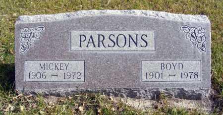 PARSONS, MICKEY - Box Butte County, Nebraska | MICKEY PARSONS - Nebraska Gravestone Photos