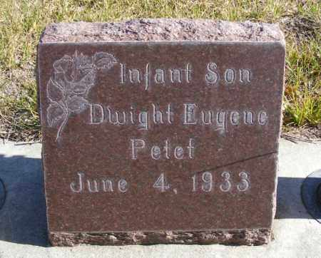 PETET, DWIGHT EUGENE - Box Butte County, Nebraska | DWIGHT EUGENE PETET - Nebraska Gravestone Photos
