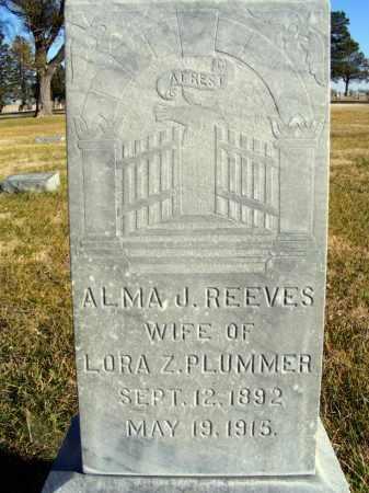 REEVES PLUMMER, ALMA J. - Box Butte County, Nebraska | ALMA J. REEVES PLUMMER - Nebraska Gravestone Photos
