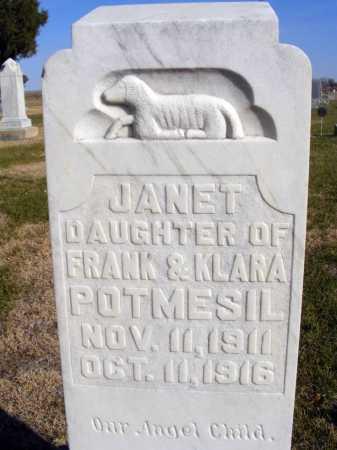 POTMESIL, JANET - Box Butte County, Nebraska | JANET POTMESIL - Nebraska Gravestone Photos