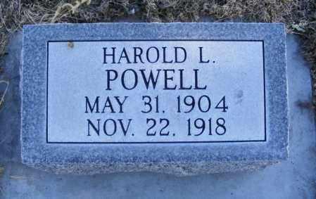 POWELL, HAROLD L. - Box Butte County, Nebraska | HAROLD L. POWELL - Nebraska Gravestone Photos